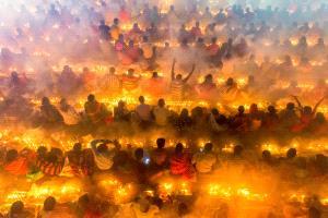 PhotoVivo Gold Medal - Sohel Parvez Haque (Bangladesh)  Prayer On Fire