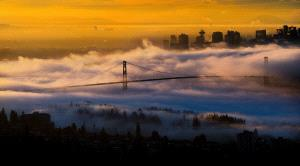 PhotoVivo Honor Mention e-certificate - Philip Chan (Canada)  The Golden Light Of Dawn In Vancouver