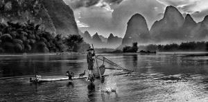 KBIPC Merit Award e-certificate - Lee Eng Tan (Singapore)  Guilin Fisherman Bw